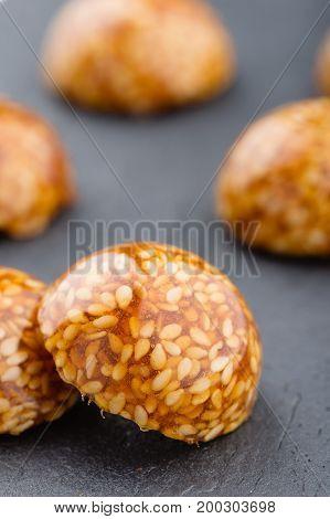 Sesame Seeds Caramelized In Sugar
