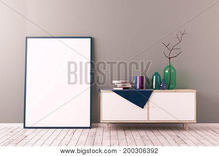 Creative Scandinavian Room With Canvas