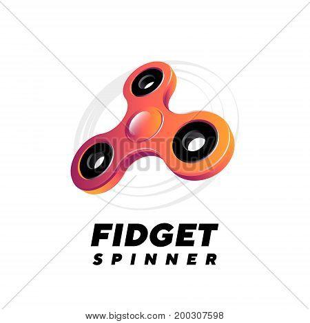 Fidget spinner on white background vector illustration