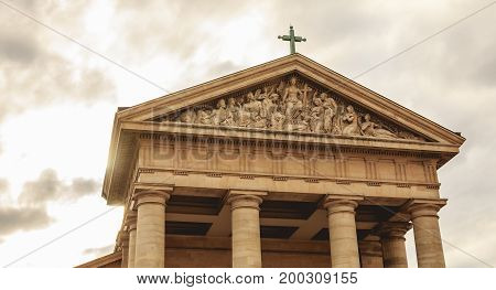 Detail Of The Architecture Of The Church Of Saint-germain En Lay