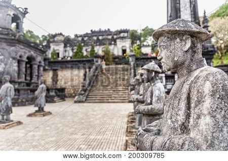 Tomb of Khai Dinh emperor in Hue Vietnam. A UNESCO World Heritage Site. Hue Vietnam