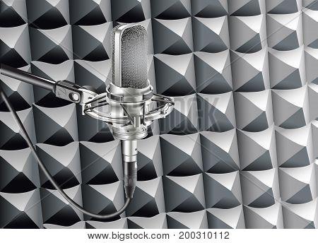 Studio Microphone for recording in studio radio station