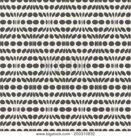 Geometric seamless pattern.Monochrome texture of repeating convex circles.White and black
