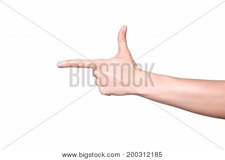 Hand Pointing At Something