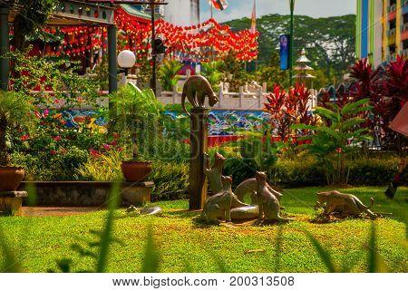 Cats Monument At The Downtown Kuching, Sarawak Malaysia.