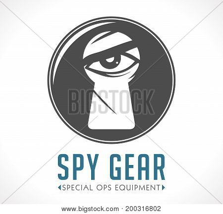 Spy shop logo concept - vector image