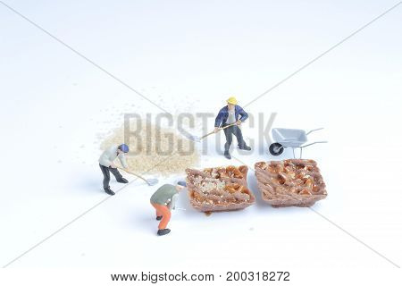 Chocolate Cookies With Figures Toy At The Board