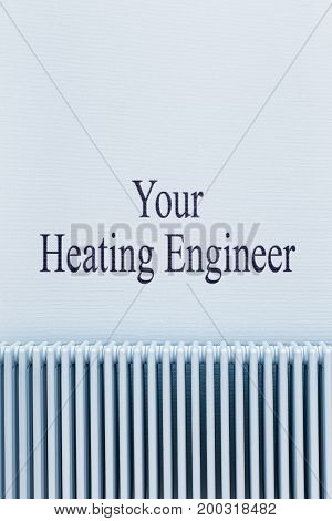 Blue Radiator With Text