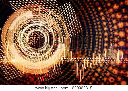 Abstract forex button background. Technology and stock concept. 3D Rendering