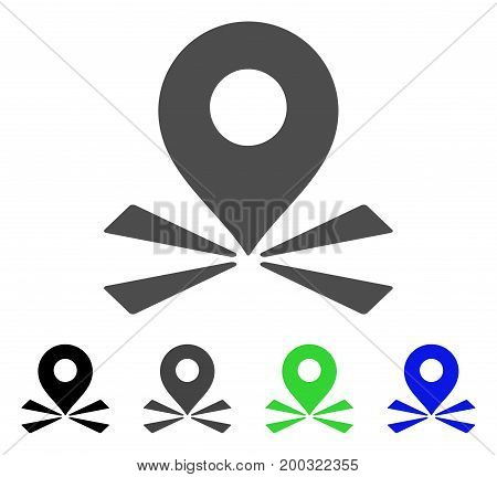 Marker Position flat vector icon. Colored marker position, gray, black, blue, green icon variants. Flat icon style for graphic design.