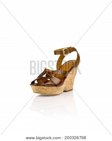 Modern womens fashion shoes isolated on white background