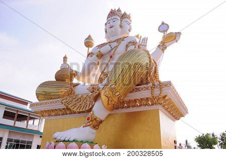Statue of Brahma.The Hindu God of Creation.Brahma statue