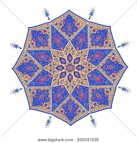 Islamic floral pattern  in Victorian style. Ornamental for Card for cafe, restaurant, shop, print, banner, wedding invitation, book cover, certificate. Save the date. India, Arabic Dubai turkish Islam