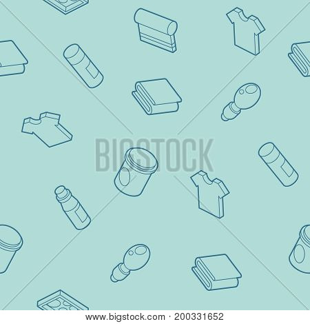 Silkskreen outline isometric pattern . Vector illustration, EPS 10