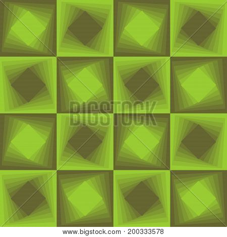 Green abstract background checker patterns with blending square texture vector EPS 10