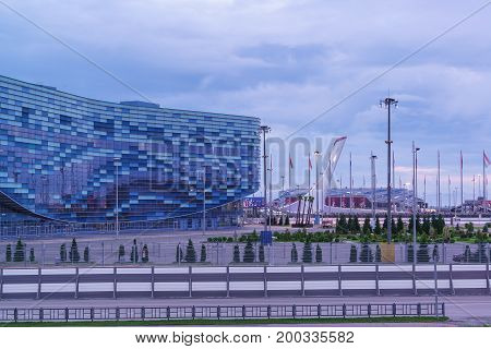 Sochi, Russia - June 11.2017: The Building Of The Ice Palace Of Sports
