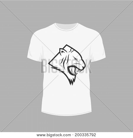 clothing design. T-shirt with a picture of a tiger