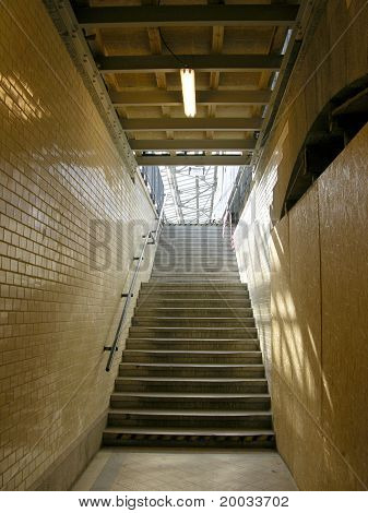 Stairs to the platform