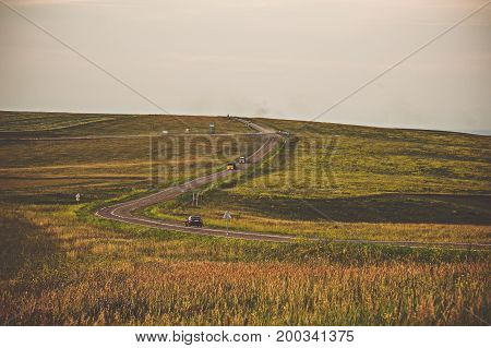 The Road Going Into The Distance Beyond The Horizon