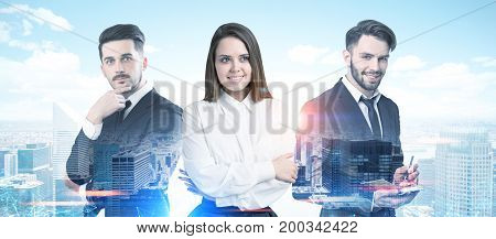 Business Partners Portrait In A City