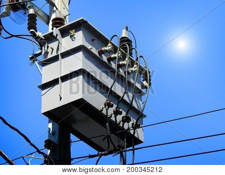 A transformer is an electrical device that transfers electrical energy between two or more circuits through electromagnetic induction.
