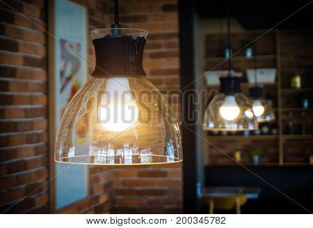 One Light Bulb And Light.
