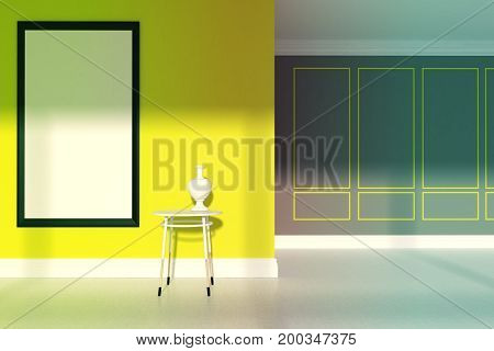Yellow Minimalist Living Room, Table