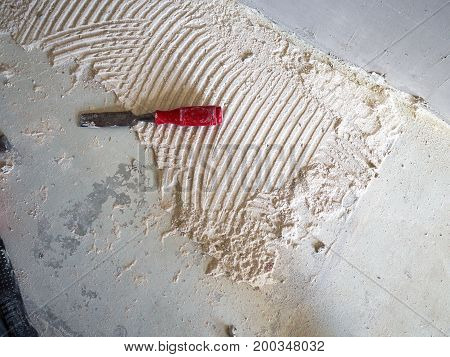 Home improvement renovation construction tools on the floor