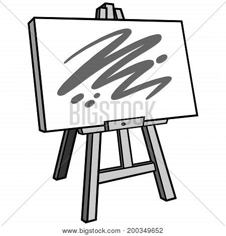 A vector illustration of a Art Easel.