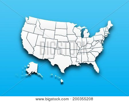 Map Of United State Of America
