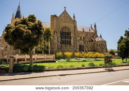 Side View Of St Mary's Cathedral In Perth
