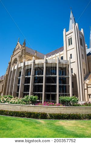 Side View Of St Mary's Cathedral In Perth City