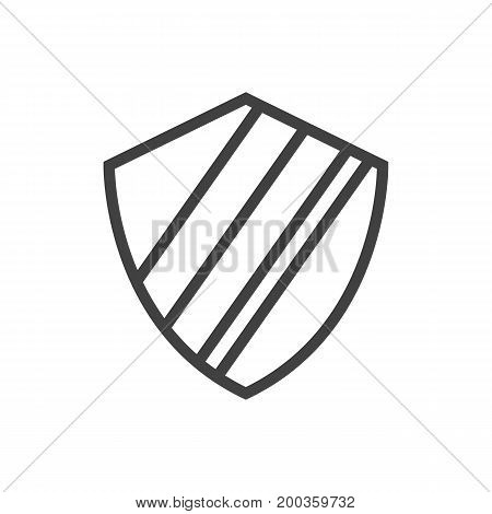 Vector Protection  Element In Trendy Style.  Isolated Shield Outline Symbol On Clean Background.