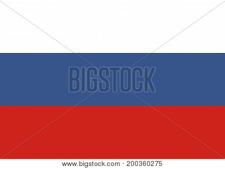 Flag of the Russian Federation. Vector illustration.