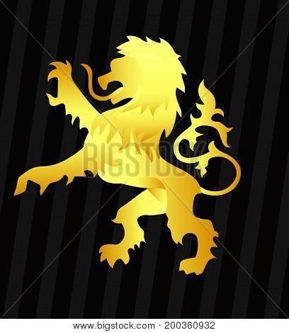 the Lion logo 2 Black on Background
