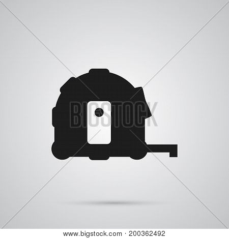 Isolated Tape Measure Icon Symbol On Clean Background