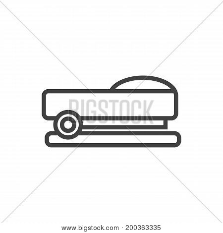 Vector Staple Element In Trendy Style.  Isolated Sew Outline Symbol On Clean Background.