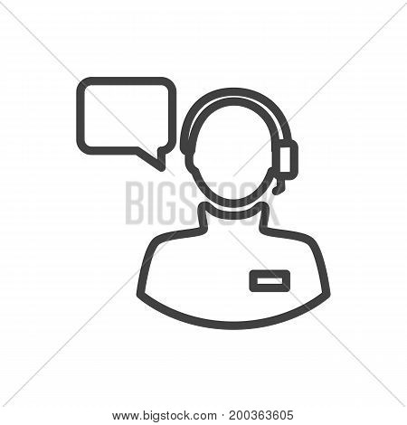 Vector Operator Element In Trendy Style.  Isolated Producer Outline Symbol On Clean Background.