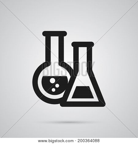 Isolated Chemical Lab Icon Symbol On Clean Background