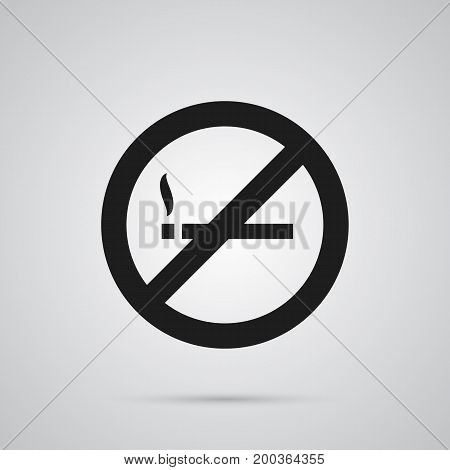 Isolated No Smoking Icon Symbol On Clean Background