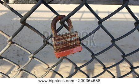 lock on a chain link fence ocean city maryland