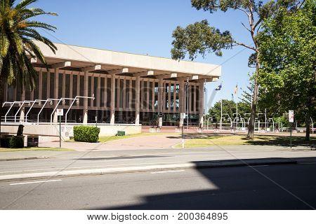 WESTERN AUSTRALIA, PERTH - NOVEMBER 2016: Perth Concert Hall at Saint Georges Terrace