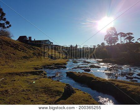 Cascata da Serra em Bom Jardim - SC - Brasil
