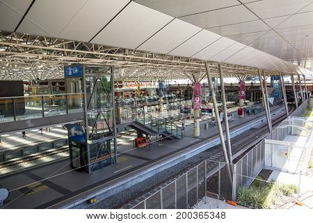 WESTERN AUSTRALIA, PERTH - NOVEMBER 2016: Perth City central public train station operated by Transperth