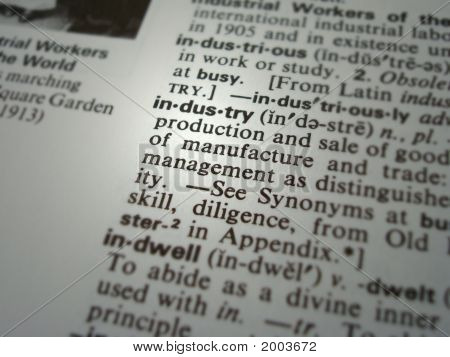 Dictionary Industry Business Term / Word