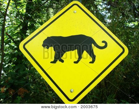Tiger Crossing Sign