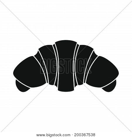 Croissant bakery product in black simple silhouette style icons vector illustration for design and web isolated on white background. Croissant bakery product vector object for labels and logo