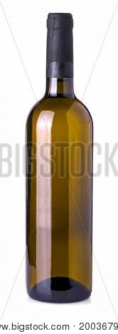 Wine bottle isolated on a white background. With clipping path
