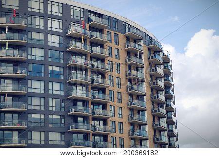 residential architecture tower condominium modern skyscraper balconies