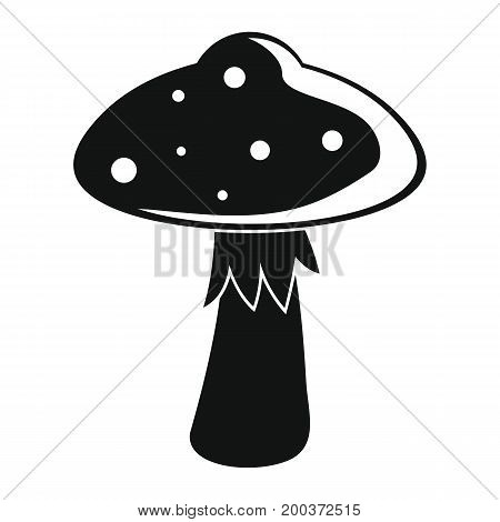 Fungus mushroom black simple silhouette icon vector illustration for design and web isolated on white background. Fungus mushroom vector object for labels  and advertising